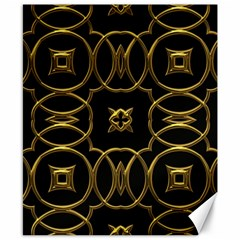 Black And Gold Pattern Elegant Geometric Design Canvas 8  x 10