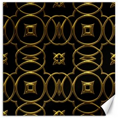 Black And Gold Pattern Elegant Geometric Design Canvas 20  x 20