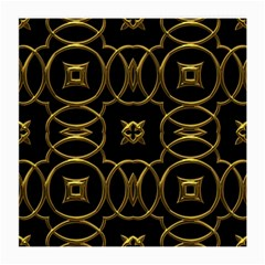 Black And Gold Pattern Elegant Geometric Design Medium Glasses Cloth (2-Side)