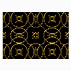 Black And Gold Pattern Elegant Geometric Design Large Glasses Cloth