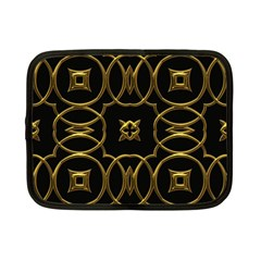 Black And Gold Pattern Elegant Geometric Design Netbook Case (Small)
