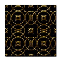 Black And Gold Pattern Elegant Geometric Design Face Towel