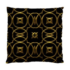 Black And Gold Pattern Elegant Geometric Design Standard Cushion Case (Two Sides)