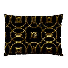 Black And Gold Pattern Elegant Geometric Design Pillow Case