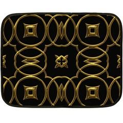 Black And Gold Pattern Elegant Geometric Design Fleece Blanket (Mini)
