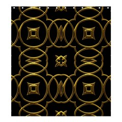 Black And Gold Pattern Elegant Geometric Design Shower Curtain 66  x 72  (Large)