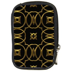 Black And Gold Pattern Elegant Geometric Design Compact Camera Cases