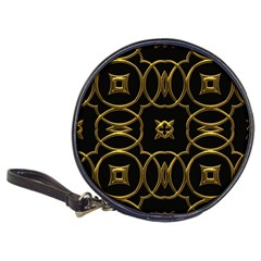 Black And Gold Pattern Elegant Geometric Design Classic 20-CD Wallets