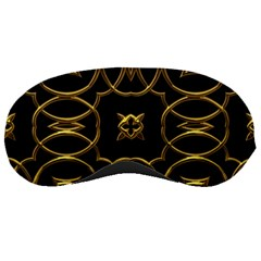Black And Gold Pattern Elegant Geometric Design Sleeping Masks