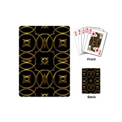 Black And Gold Pattern Elegant Geometric Design Playing Cards (Mini)