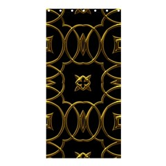 Black And Gold Pattern Elegant Geometric Design Shower Curtain 36  x 72  (Stall)