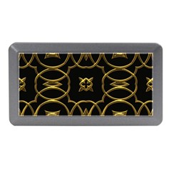 Black And Gold Pattern Elegant Geometric Design Memory Card Reader (Mini)