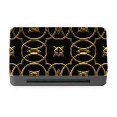 Black And Gold Pattern Elegant Geometric Design Memory Card Reader with CF