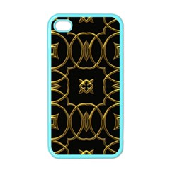 Black And Gold Pattern Elegant Geometric Design Apple iPhone 4 Case (Color)