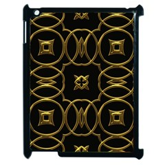 Black And Gold Pattern Elegant Geometric Design Apple iPad 2 Case (Black)
