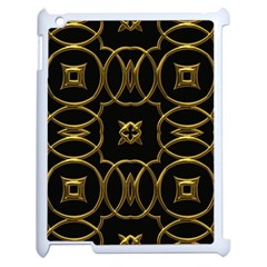 Black And Gold Pattern Elegant Geometric Design Apple iPad 2 Case (White)