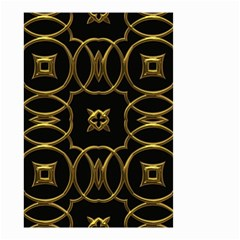 Black And Gold Pattern Elegant Geometric Design Small Garden Flag (Two Sides)