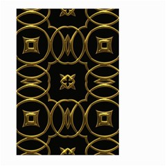 Black And Gold Pattern Elegant Geometric Design Large Garden Flag (Two Sides)