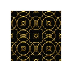 Black And Gold Pattern Elegant Geometric Design Acrylic Tangram Puzzle (4  x 4 )