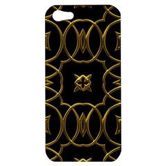Black And Gold Pattern Elegant Geometric Design Apple iPhone 5 Hardshell Case