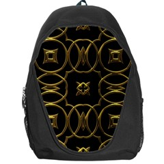 Black And Gold Pattern Elegant Geometric Design Backpack Bag