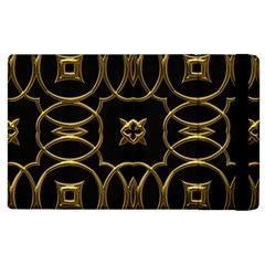 Black And Gold Pattern Elegant Geometric Design Apple iPad 3/4 Flip Case