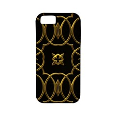 Black And Gold Pattern Elegant Geometric Design Apple iPhone 5 Classic Hardshell Case (PC+Silicone)