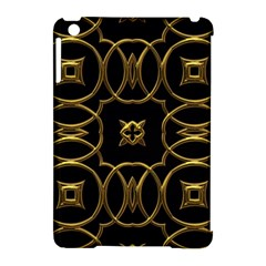 Black And Gold Pattern Elegant Geometric Design Apple iPad Mini Hardshell Case (Compatible with Smart Cover)