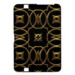 Black And Gold Pattern Elegant Geometric Design Kindle Fire HD 8.9