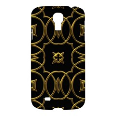 Black And Gold Pattern Elegant Geometric Design Samsung Galaxy S4 I9500/I9505 Hardshell Case
