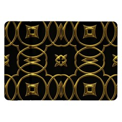 Black And Gold Pattern Elegant Geometric Design Samsung Galaxy Tab 8.9  P7300 Flip Case