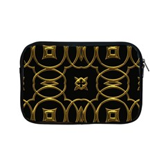 Black And Gold Pattern Elegant Geometric Design Apple iPad Mini Zipper Cases