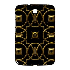 Black And Gold Pattern Elegant Geometric Design Samsung Galaxy Note 8.0 N5100 Hardshell Case