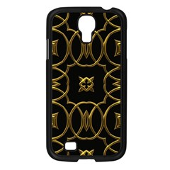 Black And Gold Pattern Elegant Geometric Design Samsung Galaxy S4 I9500/ I9505 Case (Black)