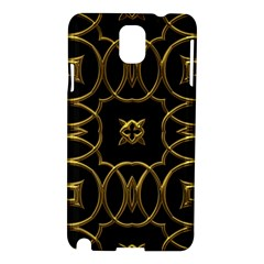 Black And Gold Pattern Elegant Geometric Design Samsung Galaxy Note 3 N9005 Hardshell Case