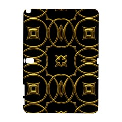 Black And Gold Pattern Elegant Geometric Design Galaxy Note 1