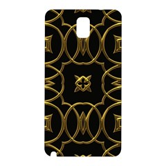Black And Gold Pattern Elegant Geometric Design Samsung Galaxy Note 3 N9005 Hardshell Back Case