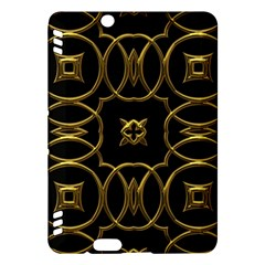 Black And Gold Pattern Elegant Geometric Design Kindle Fire HDX Hardshell Case