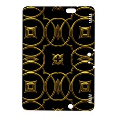 Black And Gold Pattern Elegant Geometric Design Kindle Fire HDX 8.9  Hardshell Case