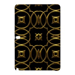 Black And Gold Pattern Elegant Geometric Design Samsung Galaxy Tab Pro 10.1 Hardshell Case