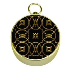 Black And Gold Pattern Elegant Geometric Design Gold Compasses