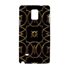 Black And Gold Pattern Elegant Geometric Design Samsung Galaxy Note 4 Hardshell Case