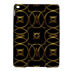 Black And Gold Pattern Elegant Geometric Design iPad Air 2 Hardshell Cases