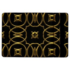 Black And Gold Pattern Elegant Geometric Design iPad Air 2 Flip