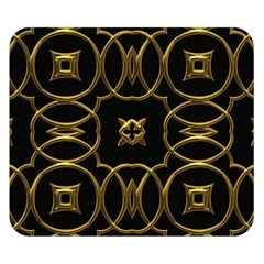 Black And Gold Pattern Elegant Geometric Design Double Sided Flano Blanket (Small)