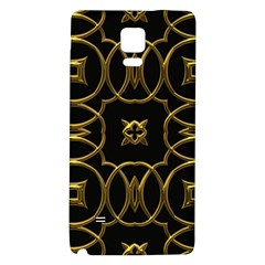 Black And Gold Pattern Elegant Geometric Design Galaxy Note 4 Back Case