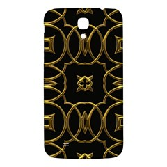 Black And Gold Pattern Elegant Geometric Design Samsung Galaxy Mega I9200 Hardshell Back Case