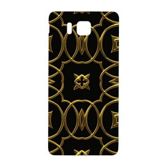 Black And Gold Pattern Elegant Geometric Design Samsung Galaxy Alpha Hardshell Back Case