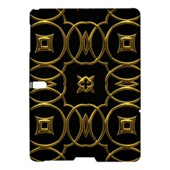 Black And Gold Pattern Elegant Geometric Design Samsung Galaxy Tab S (10.5 ) Hardshell Case