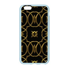 Black And Gold Pattern Elegant Geometric Design Apple Seamless iPhone 6/6S Case (Color)